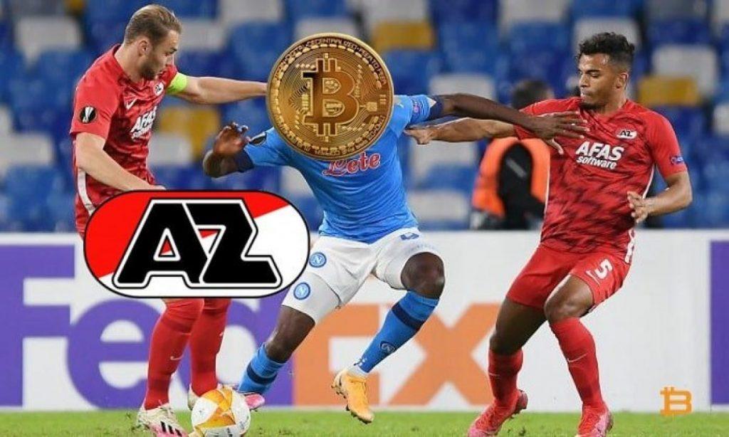 Clube de futebol europeu AZ Alkmaar receberá pagamento em bitcoins